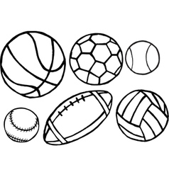 Set of different sport balls vector