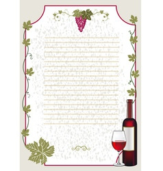 Wine card vector