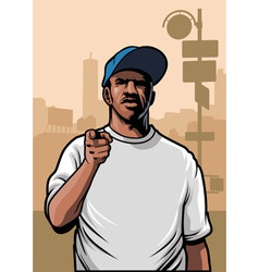 Gangster pointing hand vector