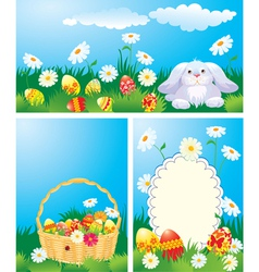 Easter cards set 380 vector