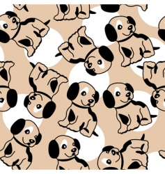 Puppy background vector