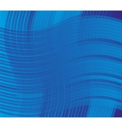 Blue curve line background vector