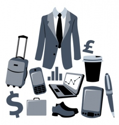 Business man graphics vector