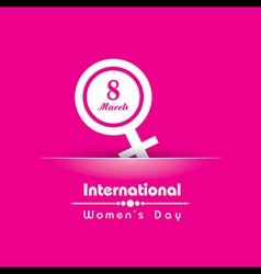 Creative international woman day greeting vector