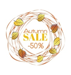 Autumn sale frame vector