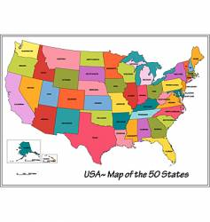 Usa states vector