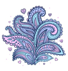 Beautiful indian floral paisley ornament vector