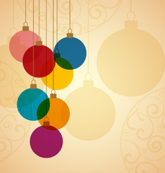 Christmas ball vector