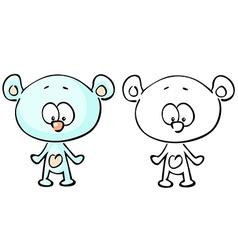Teddy bear coloring book vector