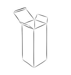 Drawing of box vector