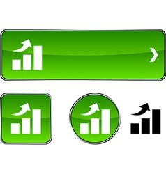 Growth button set vector