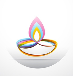 Diwali festival greeting vector