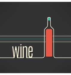 Wine bottle background in modern flat vector