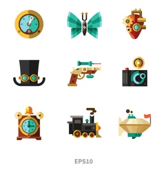Steampunk elements vector