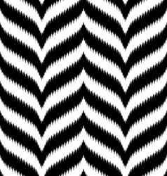 Black and white ikat chevron vector
