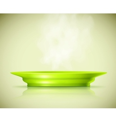 Plate with a hot dish vector