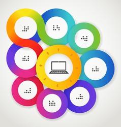 Color circle web interface template vector