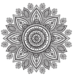 Beautiful indian floral ornament vector