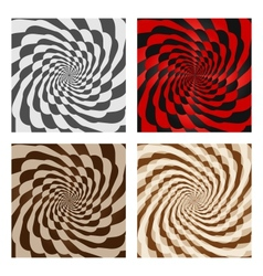 Abstract spiral background set vector