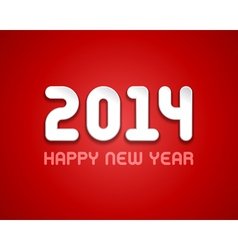 New year - 2014 message design vector