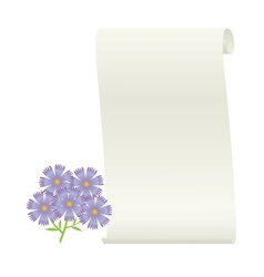 Flower and scroll vector