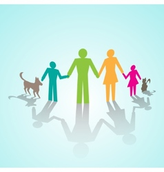 Multicolor family pictograms vector