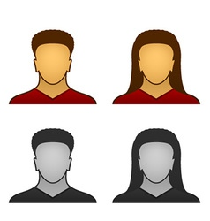 Male female face icons vector