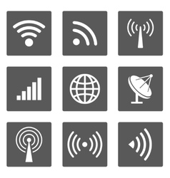 Wireless icons vector