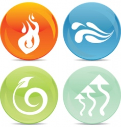 Element icons vector