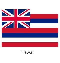Flag of the country hawaii vector