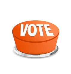 Time to vote button sign template vector