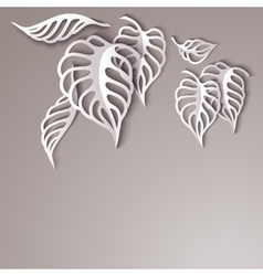 Paper leaves background vector