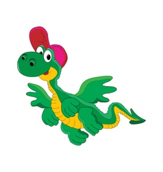 Cheerful cartoon dragon vector
