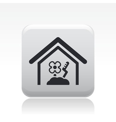 Cultivation house icon vector