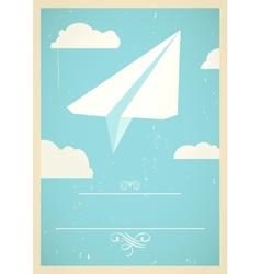 Paper plane concept vector
