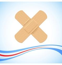 Medical bandage cross vector
