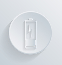 Circle icon with a shadow discharged battery vector