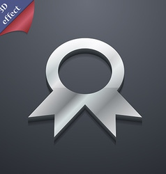 Award prize for winner icon symbol 3d style trendy vector