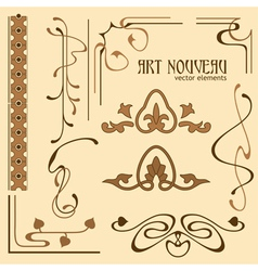 Art nouveau elements vector