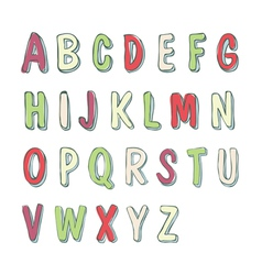 Cute childish font vector