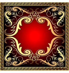 Background with frame and royal golden vector