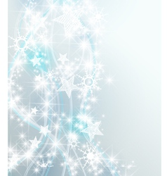Silver snowflake background vector