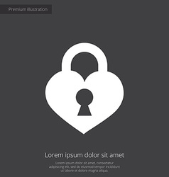Heart lock premium icon vector