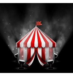 Circus tent with spotlights vector