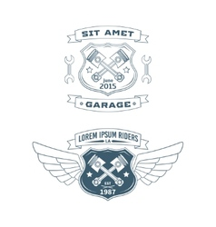 Set of motor badges vector