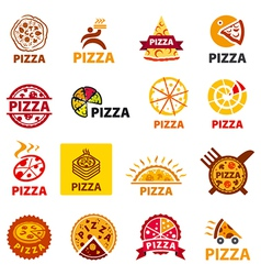 Big set of logos pizza vector