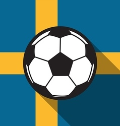 Football icon with sweden flag vector