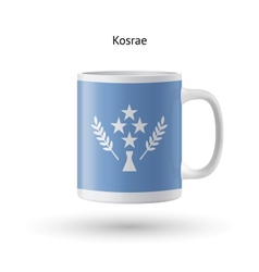 Kosrae flag souvenir mug on white background vector