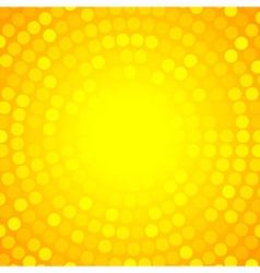 Abstract orange circular technology background vector