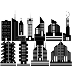 Different high rise homes vector